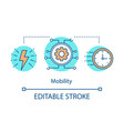 mobility technologies concept icon vector image vector image