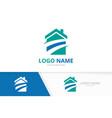modern real estate logo template house logotype vector image