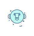 monkey icon design vector image vector image