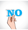 no word in hand vector image vector image