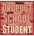 Phoenix Schools Tackle Dropout Rate text vector image vector image