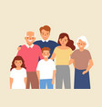 portrait of happy family with grandfather vector image vector image