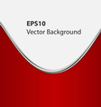 Red background curve line on white space for text vector image