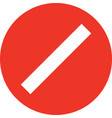red no sign empty red crossed out circle not allow vector image vector image