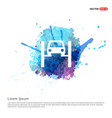 repair car icon - watercolor background vector image vector image