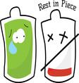 Rest In Piece vector image vector image