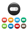 rolled towel icons set color vector image