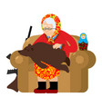 russian grandmother and bear are your pets old vector image vector image
