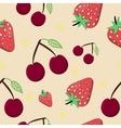 Seamless Cherry Strawberry vector image