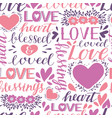 seamless christian pattern with hand lettering vector image vector image