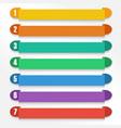 set color option elements eps10 vector image vector image
