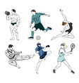set of six sports vector image