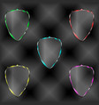 set of transparent shields vector image