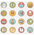 set retro business icons - part 1 vector image vector image