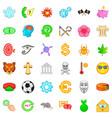 skull icons set cartoon style vector image vector image