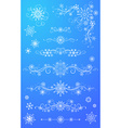 Snowflake page dividers and decorations vector image vector image