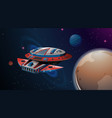 space ship planet scene vector image vector image