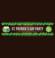 stpatricks day pub party flyer banner header vector image vector image