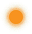 sun icon halftone sunny orange circle vector image
