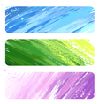 three painted banner vector image vector image