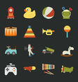Toy icons flat design vector image vector image