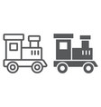train toy line and glyph icon child vector image vector image