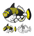 Trigger Fish vector image