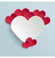 Valentines day card with paper cut heart vector image vector image