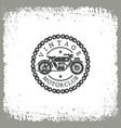 vintage motorclub vector image vector image