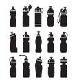 water bottles set vector image vector image