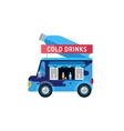 Water shop food car icon vector image