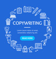 writer and copywriting signs round design template vector image vector image