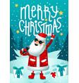 rock santa singing santa claus - rock star with vector image