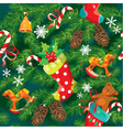 X-mas and New Year background vector image