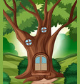 a fairy tale house in the jungle vector image vector image