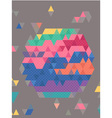 Abstract Colorful triangles with dot texture vector image vector image