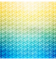 abstract summer tropical blue and yellow vector image vector image