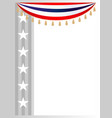 american flag symbols stars holiday frame vector image vector image