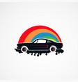 auto paint retro car logo concept icon element vector image vector image