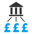 Bank Pound Payments Flat Icon Symbol vector image vector image
