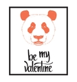 Be my Valentine Valentines day template vector image vector image