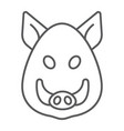 boar thin line icon animal and zoo pet vector image