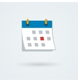 calendar icon Simple flat vector image vector image