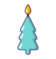 candle christmas icon cartoon style vector image vector image
