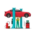 Car repair shop station repairman auto vector image vector image