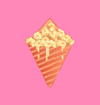 caramel corn vector image
