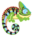 cartoon chameleon vector image vector image