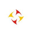 circle spin colored logo vector image vector image