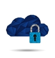 cloud security design vector image vector image