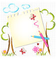 Colorful Color Pencil Drawing Background vector image
